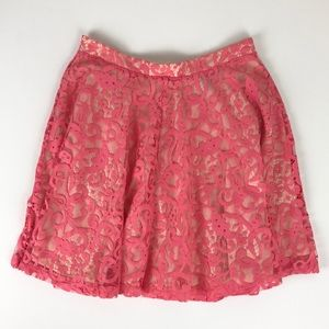 H&M coral lace skirt